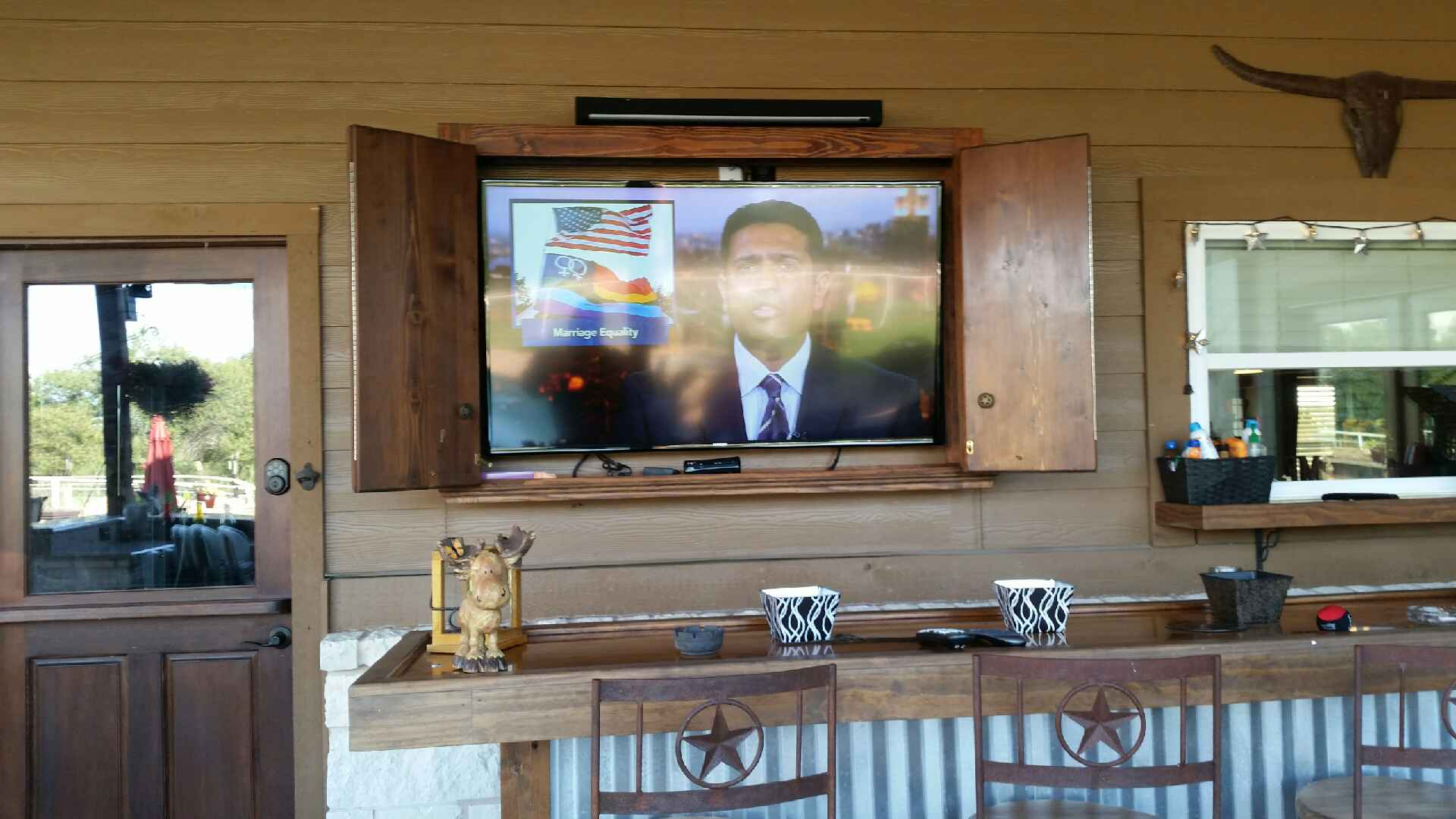 TV Installation in a Cabinet