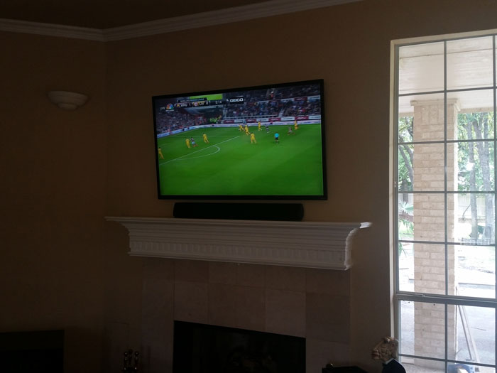 Tv-Installation-above-Fireplace-in-Southlake-tx